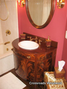Antique Cabinet Vanity-Crossroads Woodwork