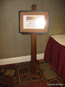 Toastmasters Stand - Crossroads Woodwork
