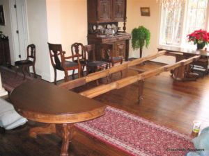 Victorian Walnut Table - Crossroads Woodwork