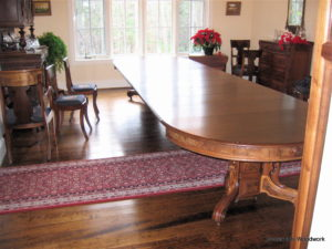 Victorian Walnut Table 16' - Crossroads Woodwork