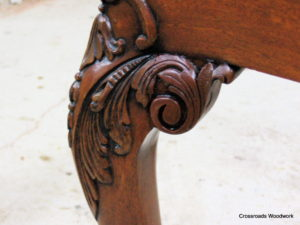 Chippendale Chair Carving-sample repair